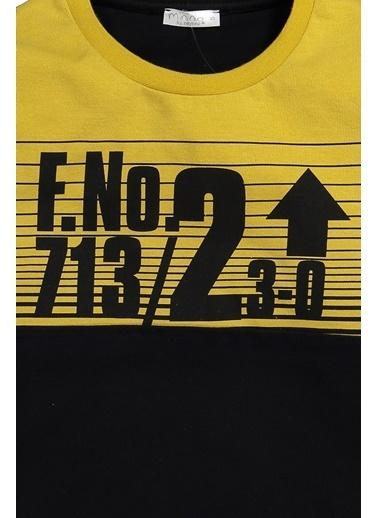 Zeyland Baskılı ve Çizgili Sweatshirt (5-8yaş) Baskılı ve Çizgili Sweatshirt (5-8yaş) Siyah